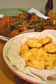 Chicken and buttermilk biscuits